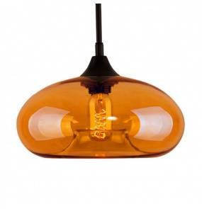 Lampa wisząca London Loft No.3 LA008/P_amber_intense Altavola Design bursztynowa oprawa w rustykalnym stylu