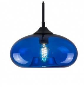 Lampa wisząca London Loft No.3 LA008/P_blue Altavola Design niebieska oprawa w rustykalnym stylu
