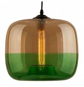 Lampa wisząca London Loft No.5 LA015/P_amber_green Altavola Design dwukolorowa oprawa w dekoracyjnym stylu