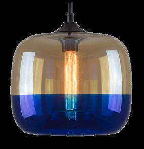 Lampa wisząca London Loft No.5 LA015/P_amber_blue Altavola Design dwukolorowa oprawa w dekoracyjnym stylu