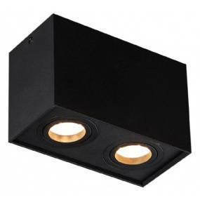 Plafon Basic Square II C0089 Maxlight czarna oprawa w nowoczesnym stylu