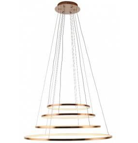 Lampa wisząca Queen IV P0244D Maxlight miedziana oprawa z funkcją ściemniania światła