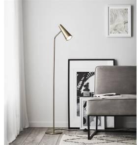 Lampa podłogowa Peak 107901 Markslojd mosiężna oprawa w nowoczesnym stylu