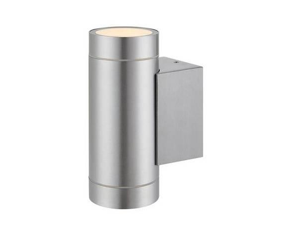 Kinkiet Pipe II 107917 Markslojd nowoczesna podwójna oprawa w kolorze aluminium