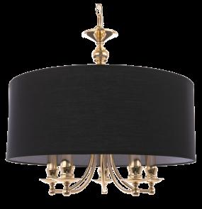 Lampa wisząca Abu Dhabi P05896AU COSMOLight czarno-złota oprawa w stylu klasycznym