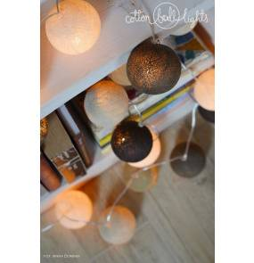 Kolorowe kulki LED kompozycja - Taupe