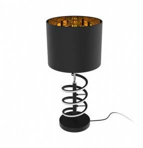 Lampa stołowa Tina TL180515-2 Zuma Line czarno-złota oprawa w stylu nowoczesnym