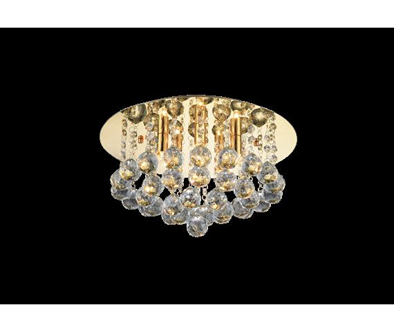 Plafon Bolla 38 gold AZ3083 AZzardo kryształowa oprawa w nowoczesnym stylu