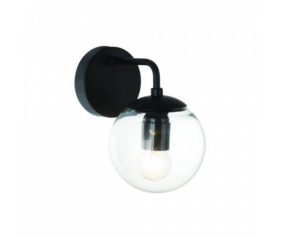 Kinkiet Bao Parette Nero Claro Orlicki Design czarna oprawa w stylu nowoczesnym