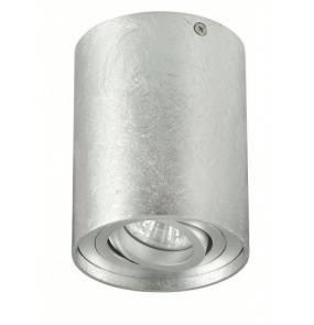 Plafon TUBA NERO 1L PLAT 1234-1L PLAT Auhilon lampa sufitowa w kolorze srebrnym