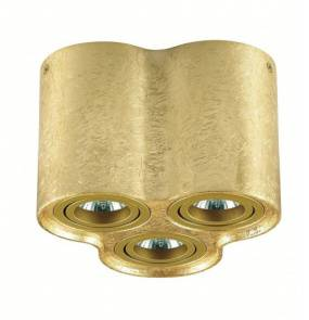 Plafon TUBA NERO 3L GOLD C1234-3L GOLD Auhilon lampa sufitowa w kolorze złotym