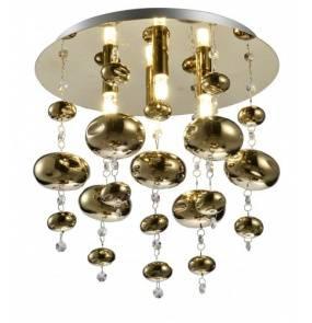 Plafon INFINITY 4R C9557-4R Auhilon lampa sufitowa w kolorze złota ze szklanymi kulami