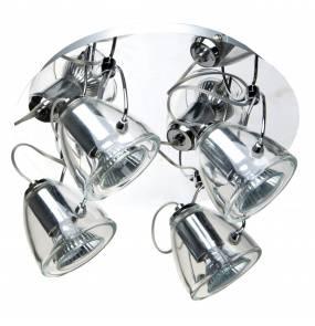 Plafon Dalia 4 LP-763/4C Light Prestige nowoczesna lampa sufitowa w kolorze srebrnym