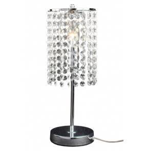 Lampa biurkowa Bright Star LP-812/1T Light Prestige kryształowa oprawa w kolorze srebrnym