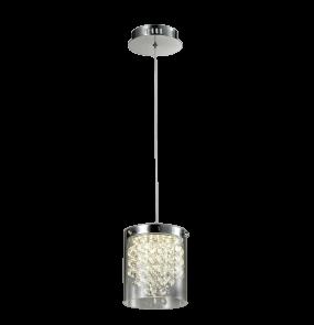 Lampa wisząca Cantos 1 LP-1114/1P Light Prestige transparentna oprawa w nowoczesnym stylu