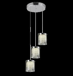 Plafon Cantos 3 LP-1114/3C Light Prestige transparentna lampa sufitowa w nowoczesnym stylu