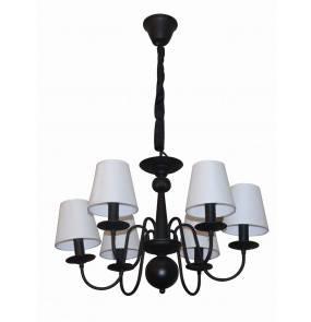 Lampa wisząca Werona 6 LP-88439/6P Light Prestige elegancji żyrandol w kolorze czarnym