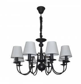 Lampa wisząca Werona 8 LP-88439/8P Light Prestige elegancki żyrandol w kolorze czarnym