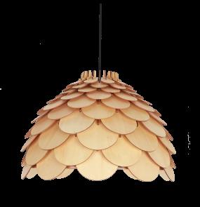 Lampa wisząca BURGO LP-101335/1P L Light Prestige drewniana oprawa w stylu nowoczesnym