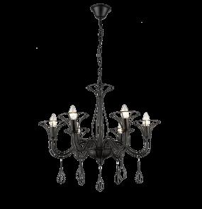 Lampa wisząca Tarragona LP-6756/6P Light Prestige elegancki żyrandol w kolorze czarnym