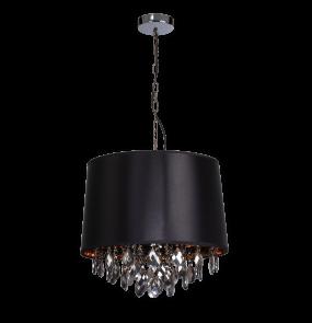Lampa wisząca VIGO LP-0412/1P Light Prestige elegancka oprawa w kolorze czarnym
