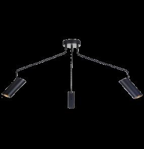 Lampa wisząca Futuro LP-17001/3C Light Prestige minimalistyczna oprawa w kolorze czarnym