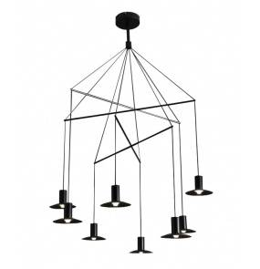 Lampa wisząca HAT LP-1661/8P Light Prestige minimalistyczna oprawa w kolorze czarnym