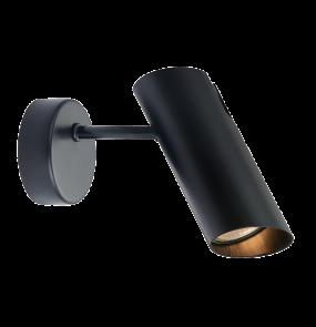 Kinkiet Futuro LP-17001/1W BK Light Prestige minimalistyczna lampa ścienna w kolorze czarnym