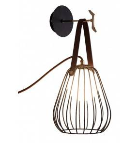 Kinkiet Bacoli LP-1212/1W BK Light Prestige minimalistyczna lampa ścienna w kolorze czarnym