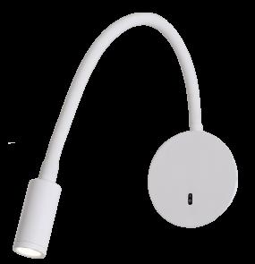 Kinkiet Senise LP-2021/1W WH Light Prestige minimalistyczna lampa ścienna w kolorze białym