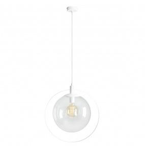 Lampa wisząca Aura 1065G Aldex biała oprawa z transparentnym kloszem