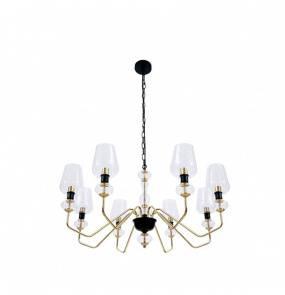 Lampa wisząca TIBO 8 BL0566 Berella Light nowoczesna oprawa w kolorze złotym