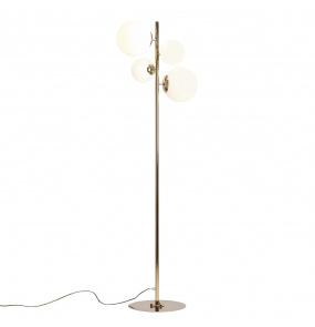 Lampa podłogowa BALIA 1039A30 Aldex złota oprawa w stylu nowoczesnym
