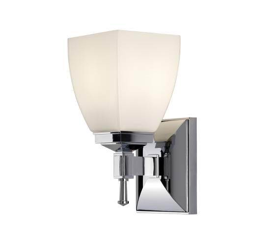 Kinkiet łazienkowy Shirebrook BATH/SB1 Elstead Lighting klasyczna oprawa w kolorze chromu