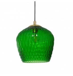 Lampa wisząca VENUS 1 11012113 KASPA zielona oprawa z wykończeniem złota