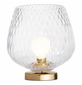 Lampa stołowa VENUS 41031109 KASPA transparenta oprawa z wykończeniem złota