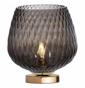 Lampa stołowa VENUS 41032108 KASPA grafitowa oprawa z wykończeniem złota