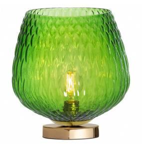 Lampa stołowa VENUS 41033113 KASPA zielona oprawa z wykończeniem złota