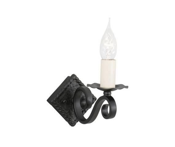 Kinkiet Rectory RY1A Elstead Lighting klasyczna oprawa w kolorze czarnym