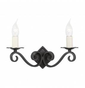 Kinkiet podwójny Rectory RY2A Elstead Lighting klasyczna oprawa w kolorze czarnym