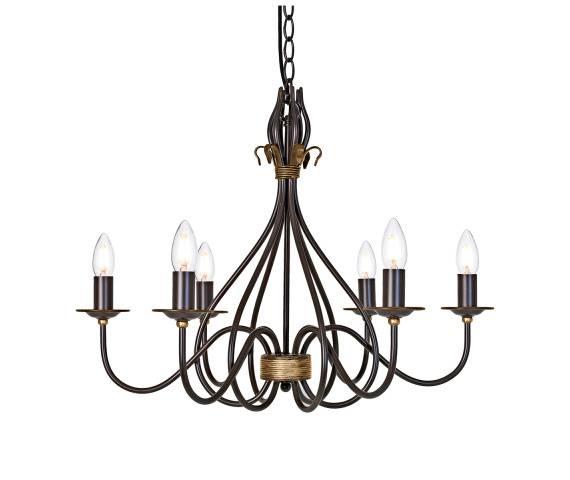Żyrandol Windemere WM6 Elstead Lighting dekoracyjna oprawa w stylu klasycznym