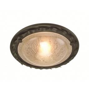 Plafon Olivia OV/F BLK/GLD Elstead Lighting czarno-złota oprawa w rustykalnym stylu