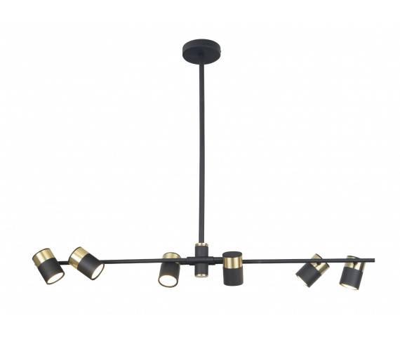 Lampa wisząca PUMA P0409 MAXlight czarno-złota oprawa w stylu nowoczesnym