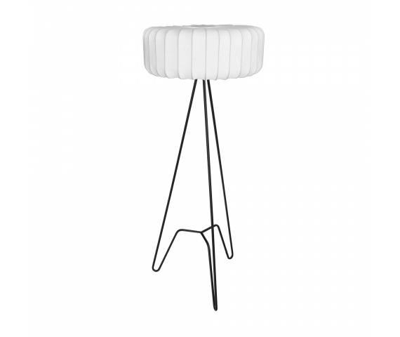 Lampa podłogowa TRIPOD F0053 Maxlight czarno-biała oprawa w stylu nowoczesnym