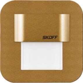 Oprawa schodowa Salsa mini Skoff 10V kwadratowa oprawa w kolorze mosiężnym