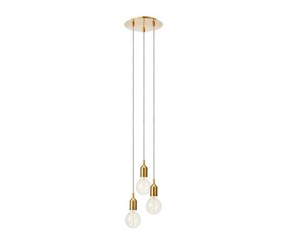 Lampa wisząca BRONX Pendant 3L Round Bronze 108099 Markslojd złota nowoczesna oprawa wisząca