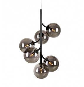 Lampa wisząca CALLISTO Pendant 6L Black/Smoke 108108 Markslojd czarna nowoczesna oprawa wisząca