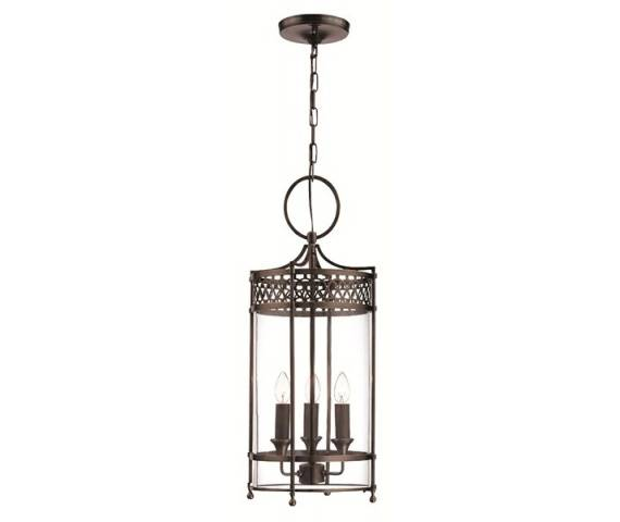 Lampa wisząca Guildhall GH/P DB Elstead Lighting klasyczna oprawa w kolorze ciemnego brązu