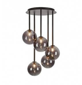 Lampa wisząca UNIVERSE Ceiling 5L Black/Smoke 108111 Markslojd nowoczesna oprawa wisząca