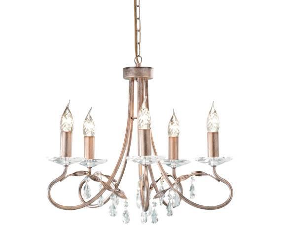 Żyrandol Christina 5 CRT5 Elstead Lighting złota oprawa w klasycznym stylu
